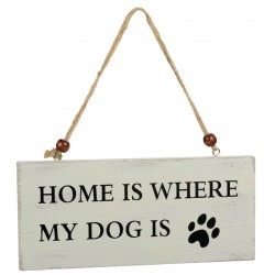 happyRoss - Holzschild - Hund (Home is where my Dog is)